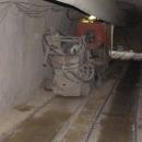Zásobníkový vůz ZV-01 + Dopravní pás DP-01 + Stroj na stříkání betonu SSB 24 - praktické použití